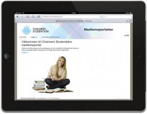 iPad-Medlemsportal