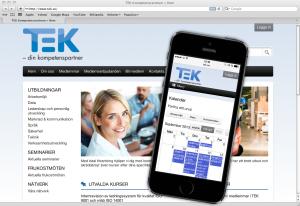 TEK webbsystem med mobilanpassning