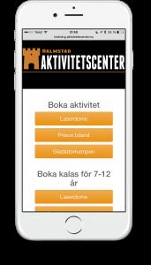 Aktivitetsbokning boka mobil